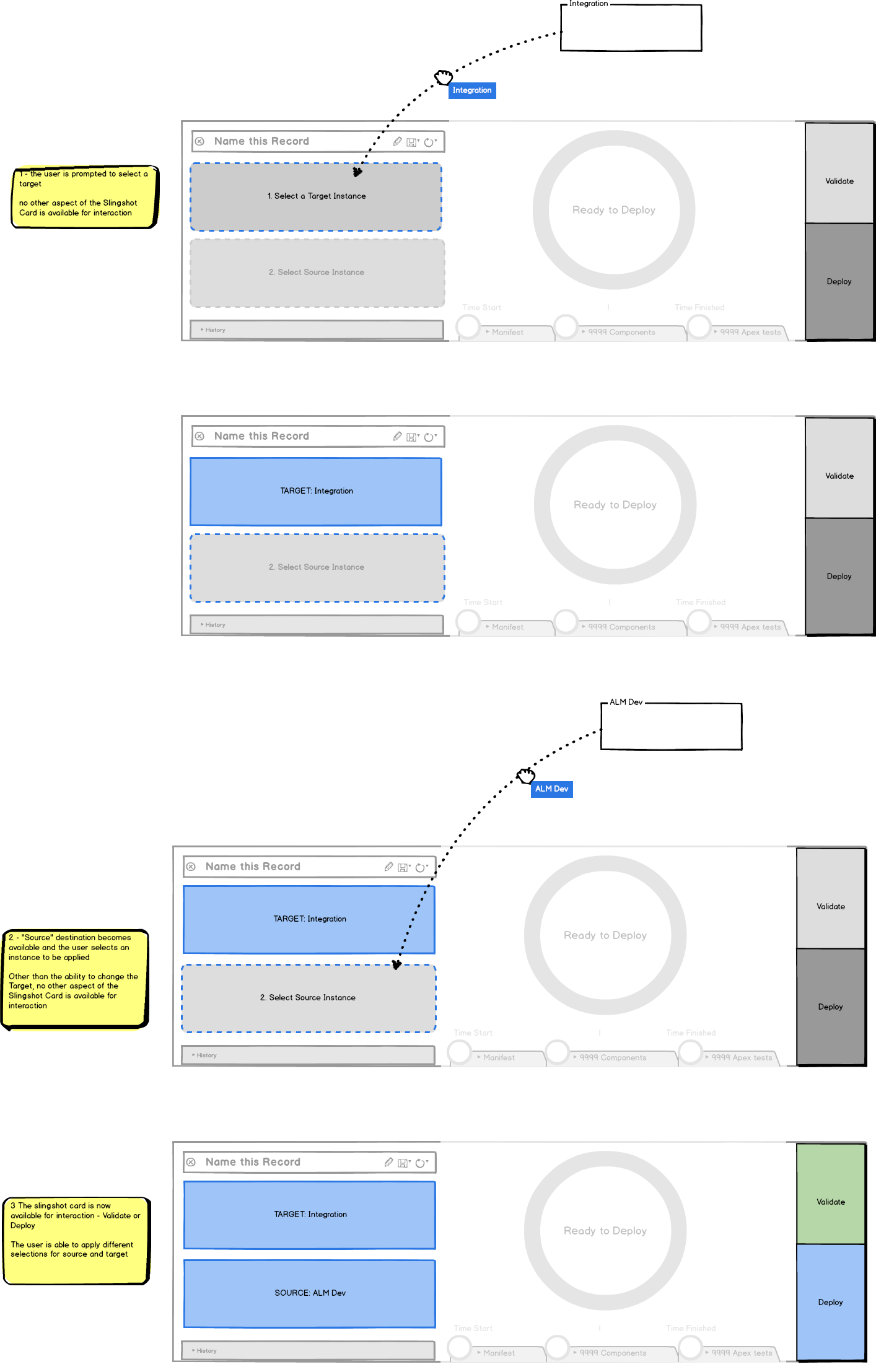 Slingshot UI Wireframes